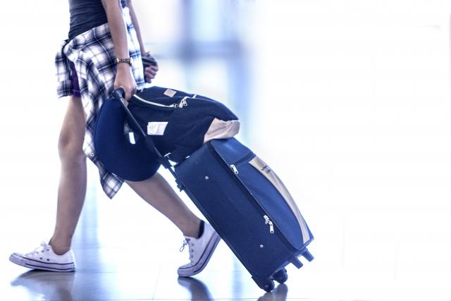 スーツケースで旅をする